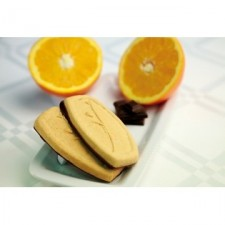 Biscuit épi de blé orange socle chocolat