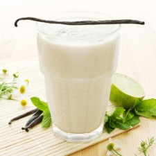 Vanilla flavour drink Milk shake style