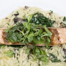 Risotto agli spinaci e salmone affumicato